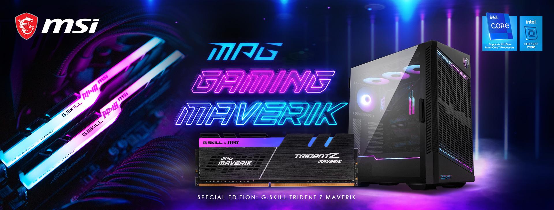 03 trident z maverik msi mpg gaming maverik bundle G.SKILL เปิดตัวแรม Trident Z Maverik DDR4 รุ่นใหม่ที่มาพร้อมกับชุดเมนบอร์ด MSI MPG GAMING MAVERIK รุ่นใหม่ล่าสุด