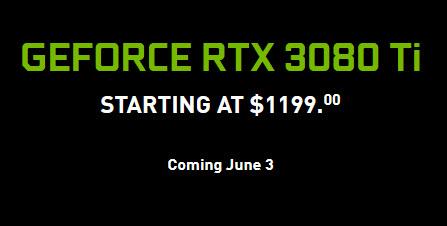2021 06 03 9 29 40 Nvidia เปิดตัวการ์ดจอ GeForce RTX 3080 TI และ GeForce RTX 3070 Ti ราคาเริ่มต้นที่ 599USD และ 1199USD หรือประมาณ 19,XXXบาท ถึง 39,XXXบาทไทย เตรียมวางจำหน่ายวันที่ 3 มิ.ย. และ 10 มิ.ย. ที่จะถึงนี้