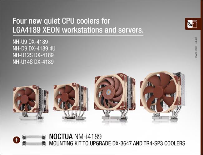 noctua dx 4189 launch web NOCTUA เปิดตัวฮีตซิงค์ Intel Xeon ที่ใช้ในแพลตฟอร์มซ็อกเก็ต LGA4189 รุ่นใหม่ล่าสุด