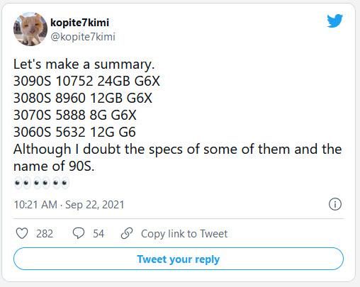 2021 09 24 9 23 56 ลือ!! สเปกการ์ดจอ NVIDIA GeForce RTX 3080 SUPER, RTX 3070 SUPER และ RTX 3060 SUPER ซีรีย์รุ่นใหม่ล่าสุด