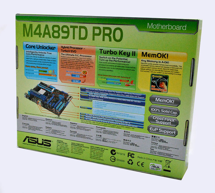 230 ASUS M4A89TD PRO Motherboard Review