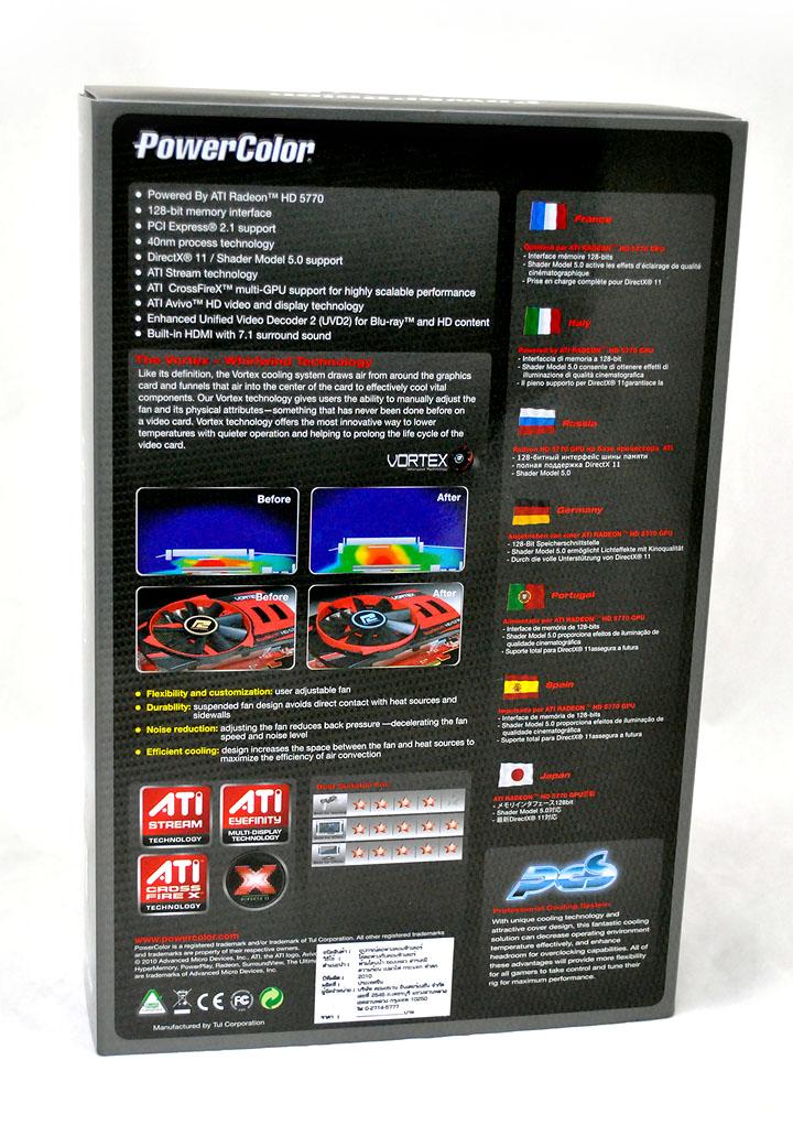 248 PowerColor Radeon HD5770 PCS+ VORTEX 1GB GDDR5 Review