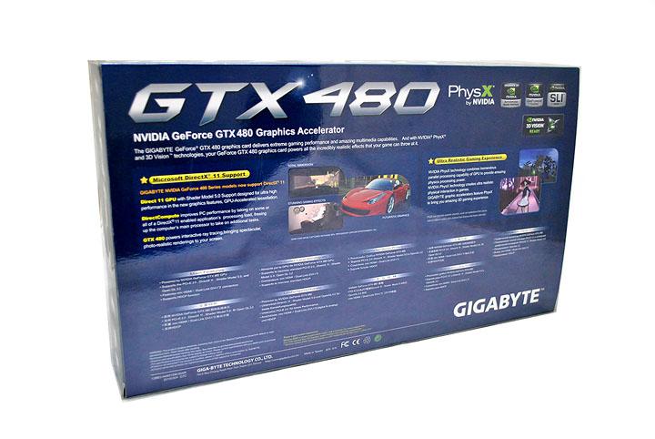 250 Gigabyte GTX480 1536MB  DDR5