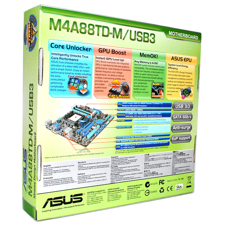 325 Asus M4A88TD M/USB3 Motherboard Review
