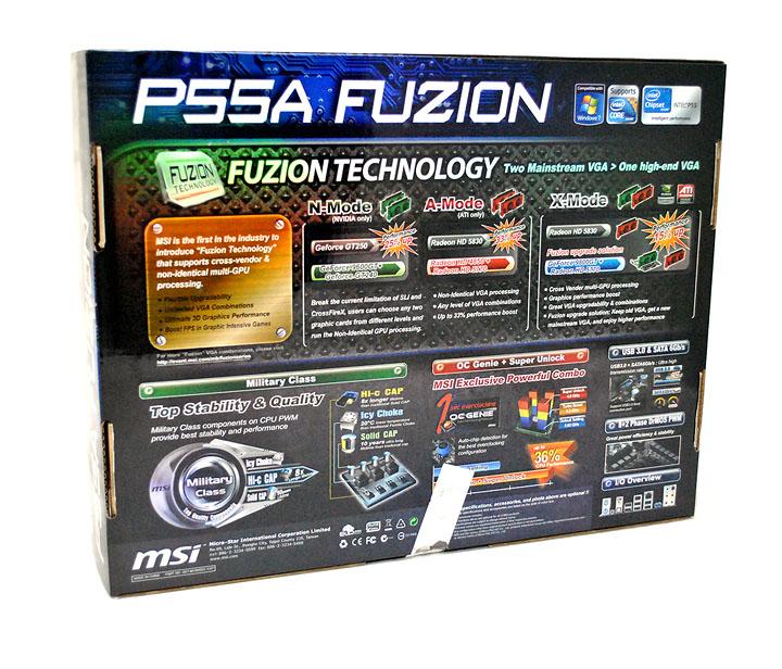 326 MSI P55A Fuzion Review