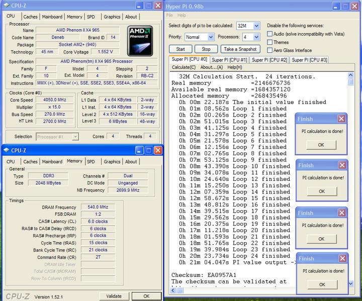 32m Phenom II X4 965BE @ 4 G อีกแล้ว