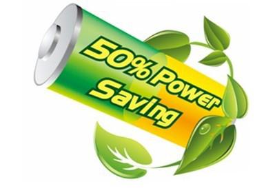 "50 power saving AOC ""ECO7""  Environmentally friendly."