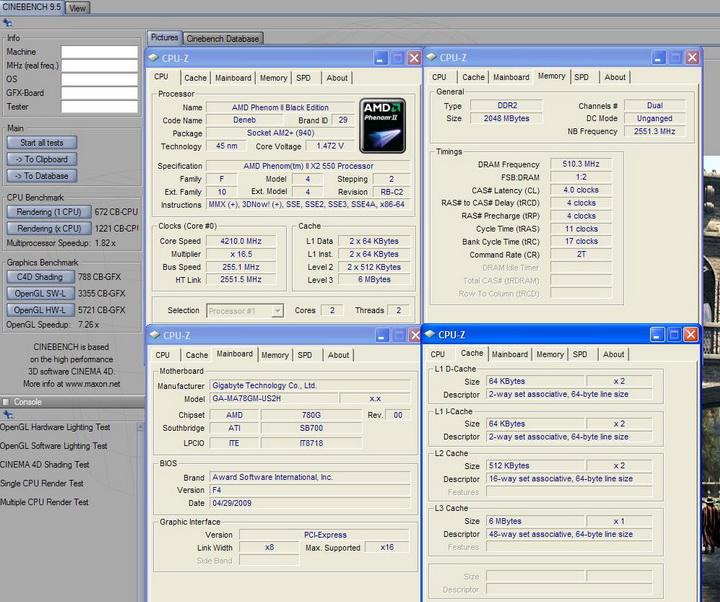 951 AMD Phenom II X2 550 Black Edition แรงของจริง