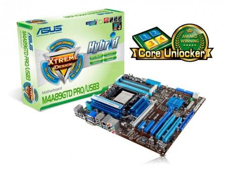 asus m4a89gtd pro motherboard with core unlocker อัสซุสเมนบอร์ด M4A89GTD PRO Series หนึ่งเดียวที่มีฟีเจอร์ Core Unlocker และรุ่นแรกที่ รองรับ SATA 6Gb/s พร้อม Hybrid Switch