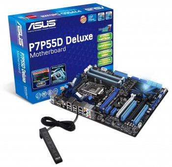 asus p7p55d deluxe motherboard อัสซุส แนะนำสุดยอดมาเธอร์บอร์ด P7P55D ซีรี่ย์  รุ่นแรกของโลก ที่ใช้ระบบจ่ายพลังงานไฮบริด 32 เฟส