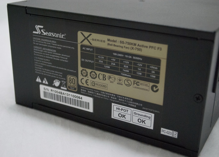 7 Seasonic X series 750W Gold