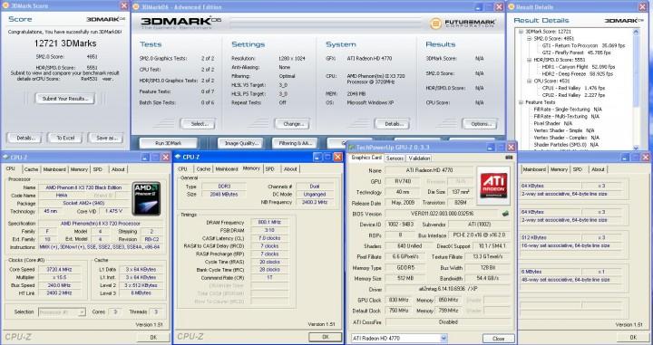 3dmark06 AMD ATI HD 4770 แบบเต็มๆ