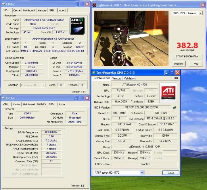 lightsmark2007 AMD ATI HD 4770 แบบเต็มๆ