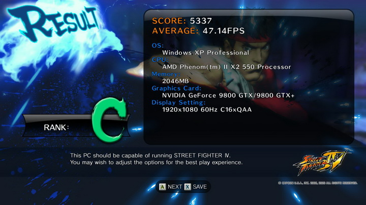 street fighter iv AMD Phenom II X2 550 Black Edition แรงของจริง