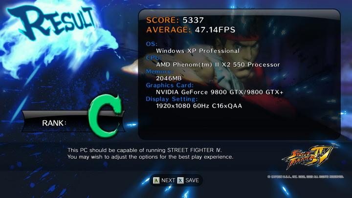 street fighter iv AMD Phenom II X2 550 Black Edition แรงของจริง