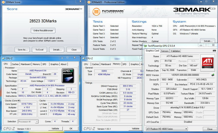 03 AMD Phenom II X2 555BE @ X4 B55 Review