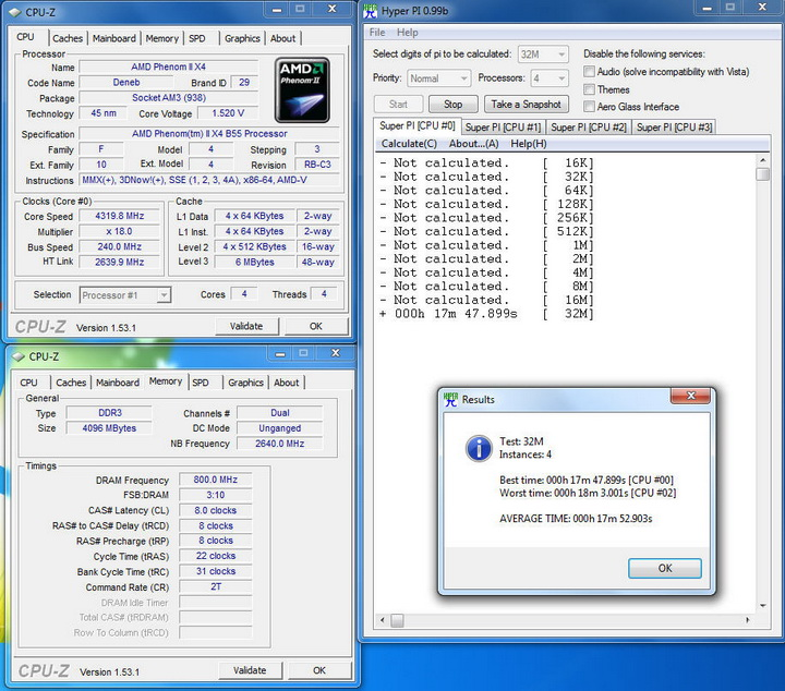 1153 AMD Phenom II X2 555BE @ X4 B55 Review