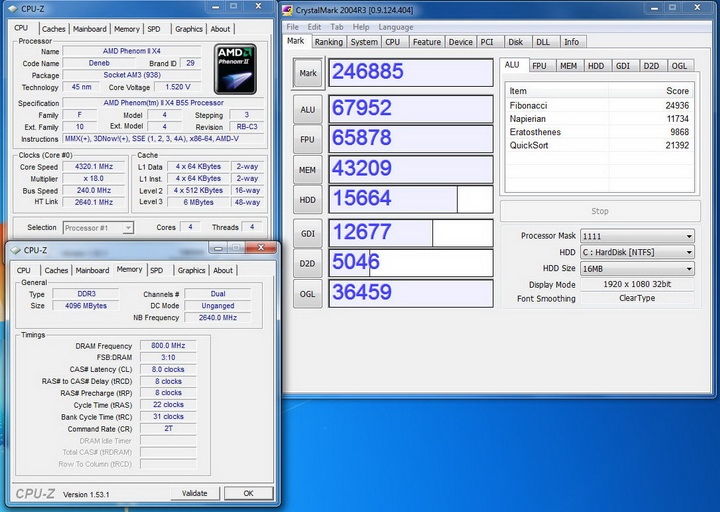 crytalmark1 AMD Phenom II X2 555BE @ X4 B55 Review