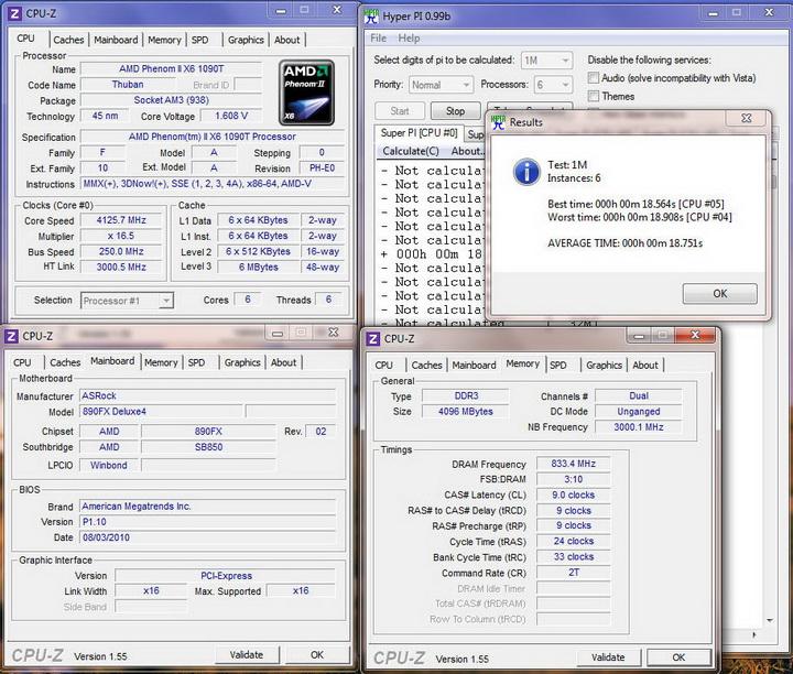 pi1m6core Asrock 890FX Deluxe4  Review