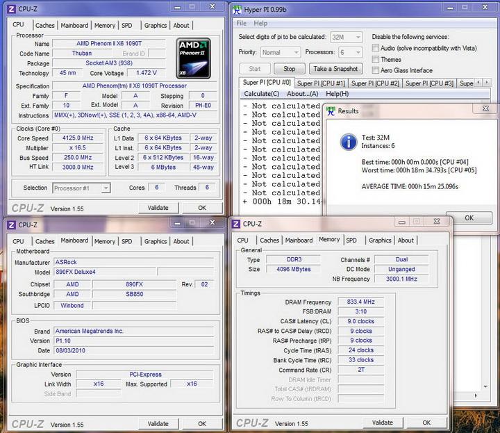 pi32m6core Asrock 890FX Deluxe4  Review
