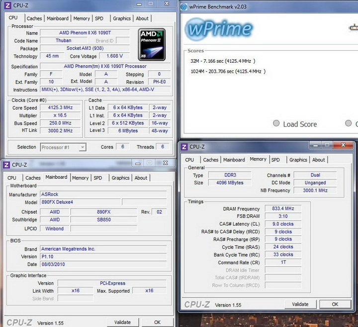 wprime Asrock 890FX Deluxe4  Review