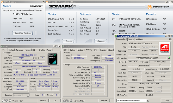 06 Economy with Asrock A780GM LE/128M