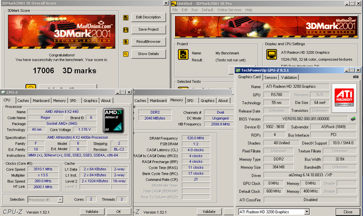 2001 Economy with Asrock A780GM LE/128M