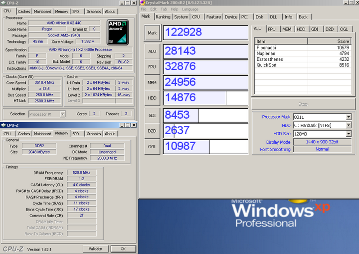 crystalmark 2004 Economy with Asrock A780GM LE/128M