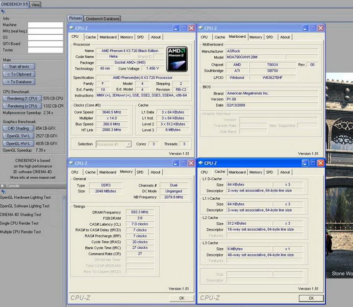 95 Asrock M3A790GXH/128M