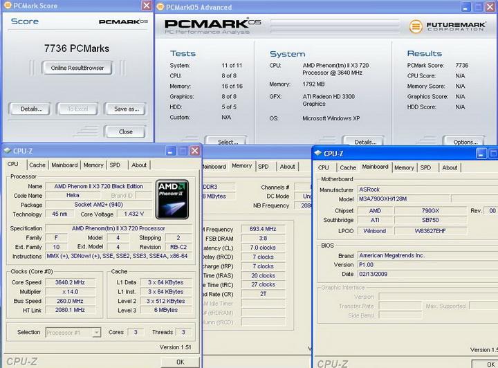 pcmark05 Asrock M3A790GXH/128M