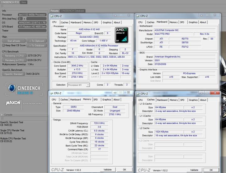 cinebenchr10 ASUS M4A77TD PRO