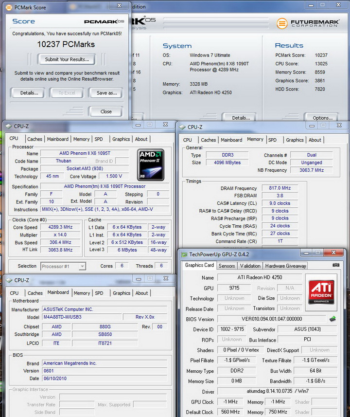 pcmark05 Asus M4A88TD M/USB3 Motherboard Review