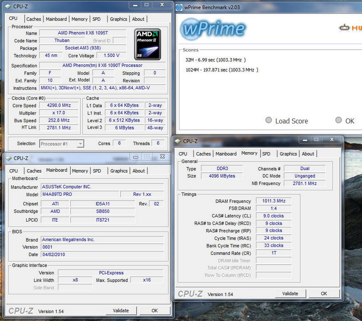 wprime ASUS M4A89TD PRO Motherboard Review