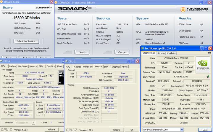 06 Athlon II X2 245 @4G