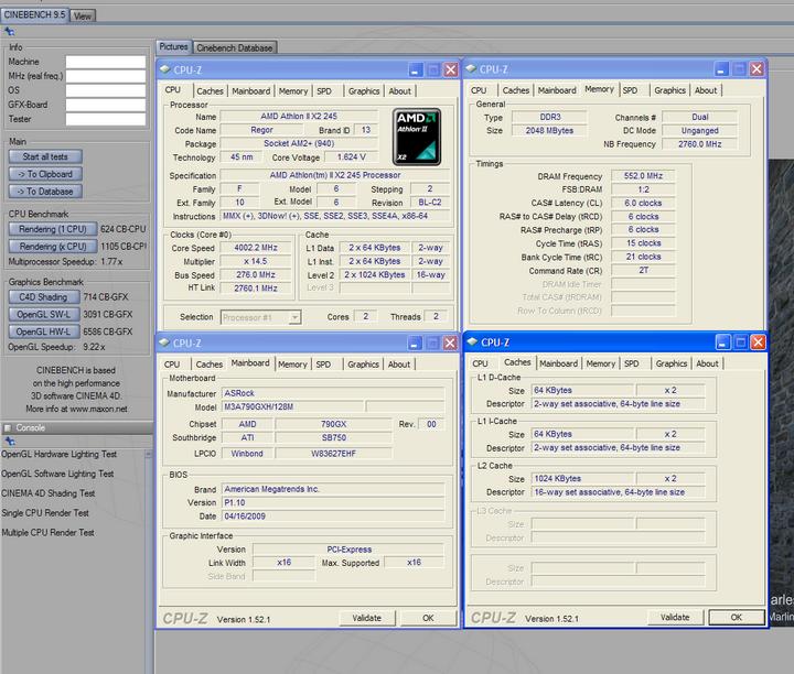95 Athlon II X2 245 @4G