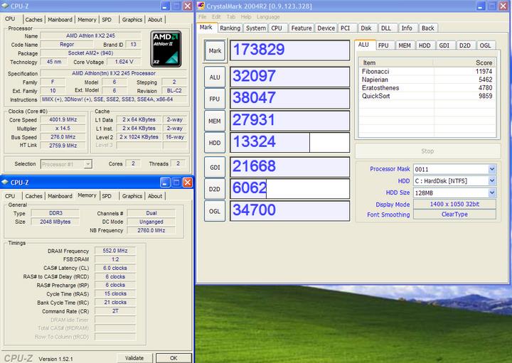 crytalmark 2004 Athlon II X2 245 @4G