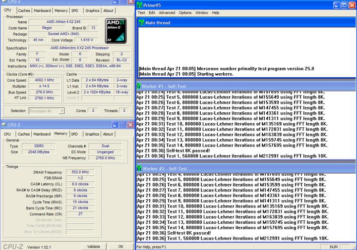 p95 Athlon II X2 245 @4G