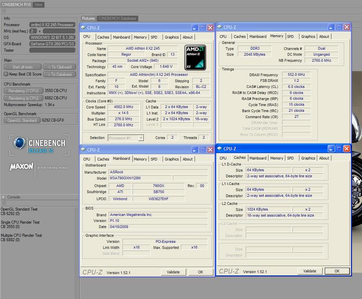 r10 Athlon II X2 245 @4G