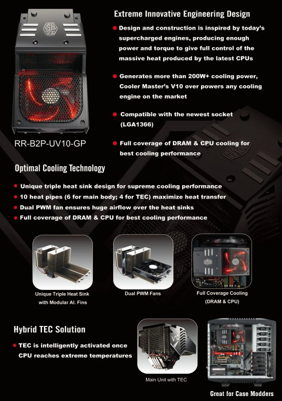 v10 feature Cooler Master V10