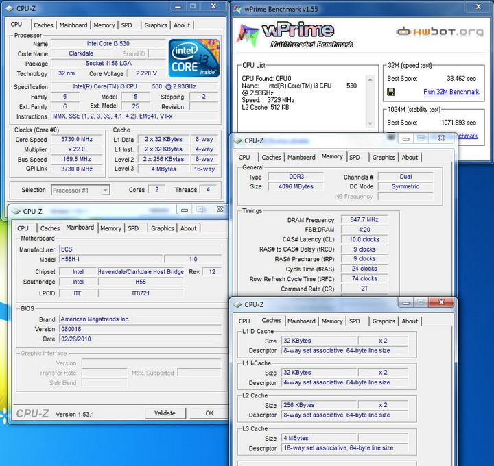 wprime ECS  H55H I Review