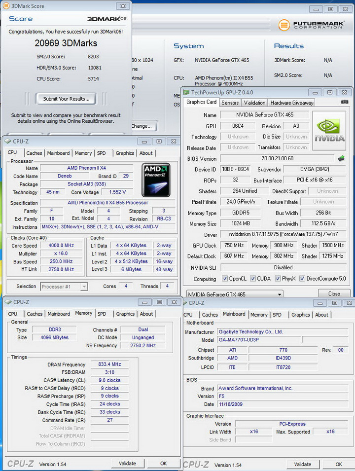 06 EVGA GTX465 1024MB GDDR5 Review