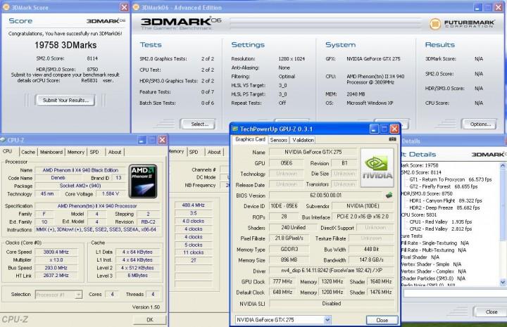 3dmark06 Galaxy GTX275  แรงได้ใจจัง