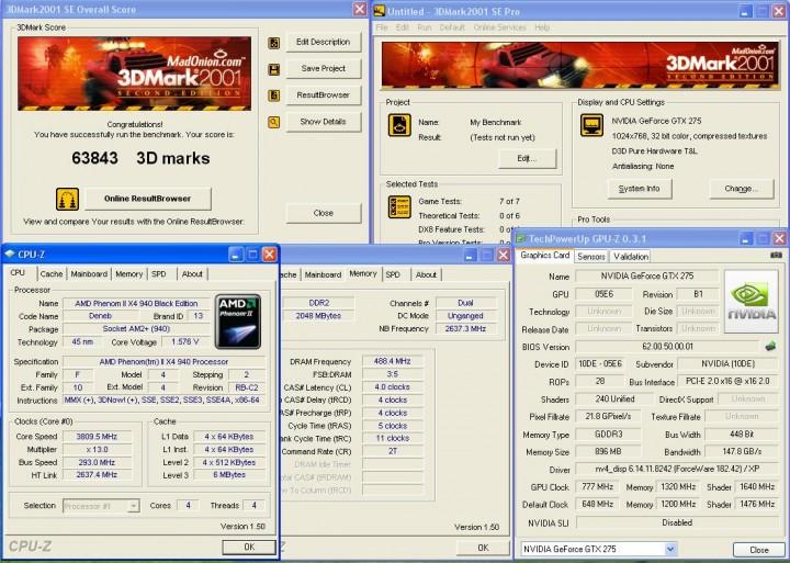 3dmark2001 Galaxy GTX275  แรงได้ใจจัง