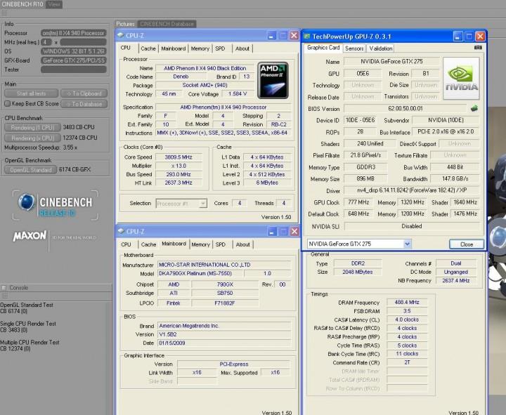 cinebenchr10 Galaxy GTX275  แรงได้ใจจัง