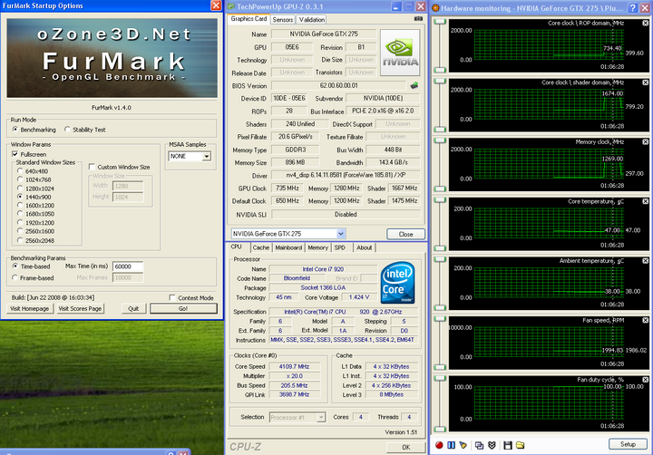 temp11 Galaxy GTX275 Overclocked