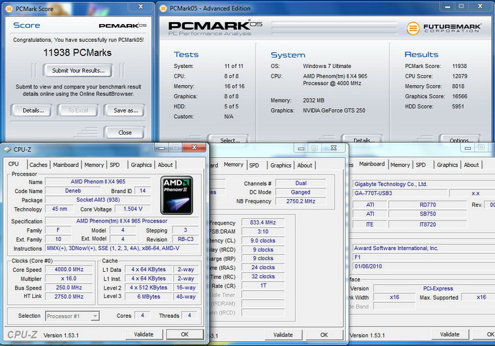 pcmark051 Gigabyte 770T USB3 Review
