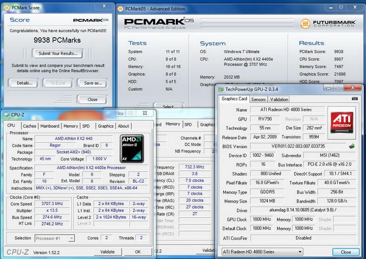 pcmark2005 GIGABYTE GA MA770T UD3P