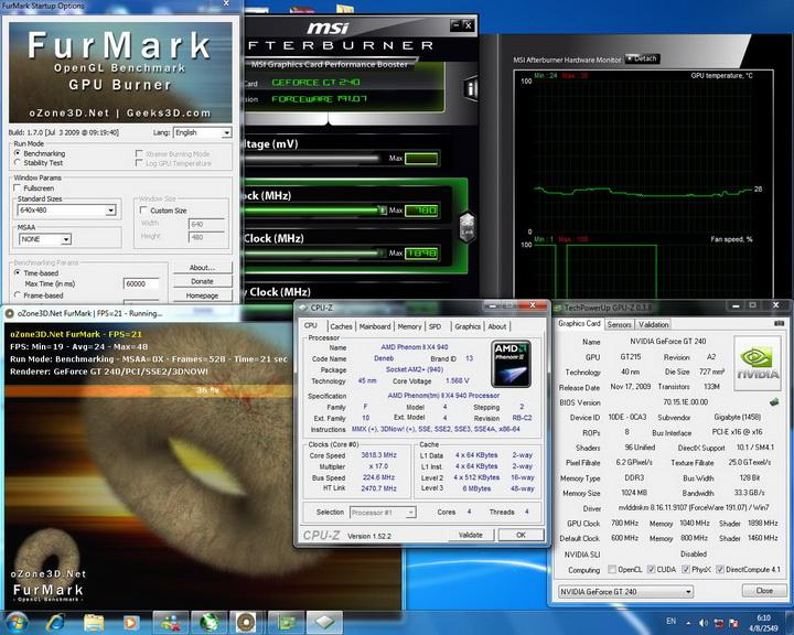 temp Gigabyte GT240 DDR3