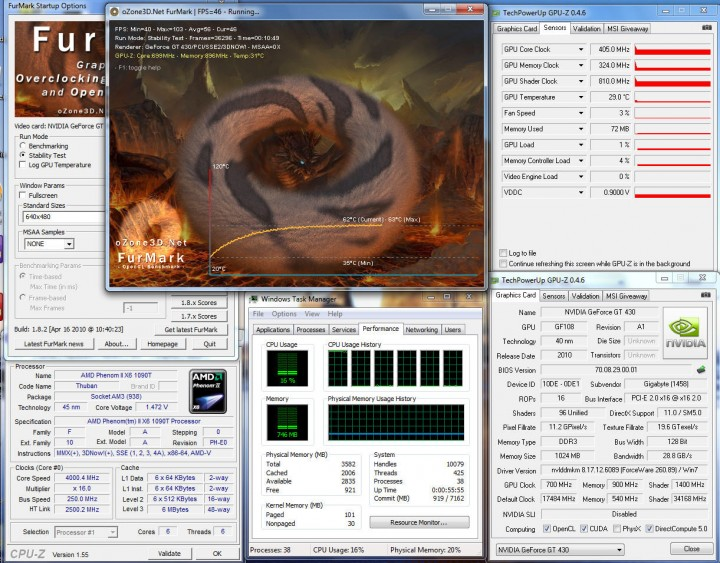 temp14 720x563 Gigabyte GT 430 Review