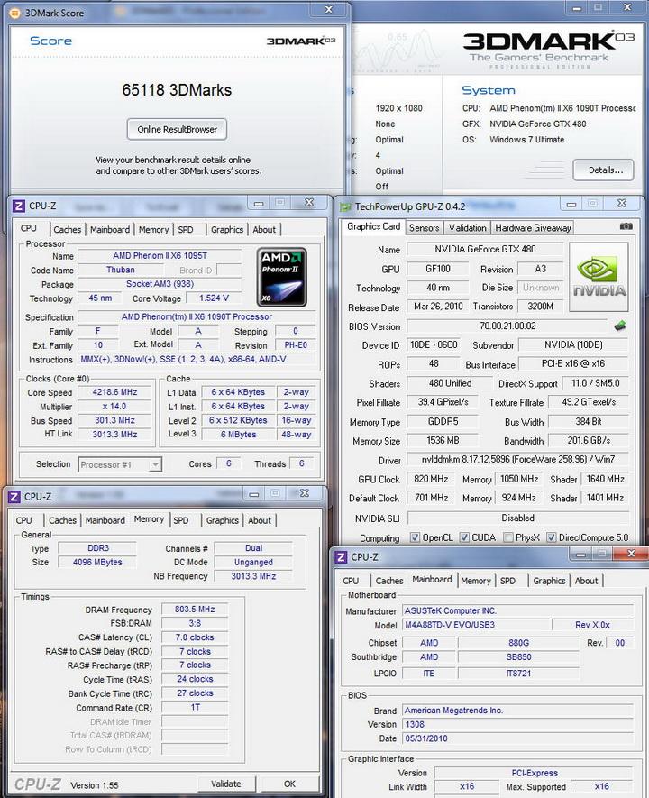 03 Gigabyte GTX480 1536MB  DDR5
